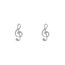 Load image into Gallery viewer, Treble Clef Stud Earrings