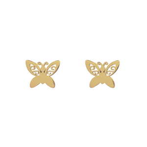 Swirly Butterfly Stud Earrings