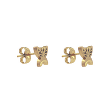 Load image into Gallery viewer, Swirly Butterfly Stud Earrings