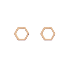 Load image into Gallery viewer, Open Hexagon Stud Earrings