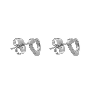 Open Hearted Stud Earrings
