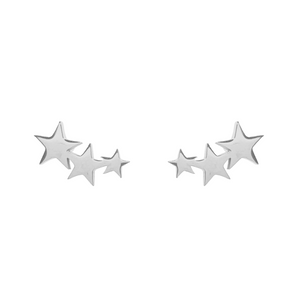 Three Star Stud Earrings