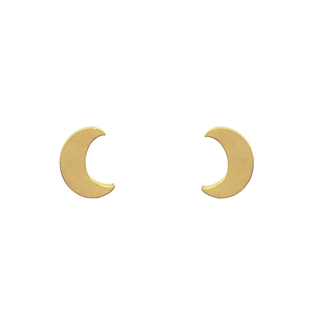 Medialuna Crescent Moon Stud Earrings