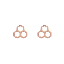 Load image into Gallery viewer, Honeycomb Stud Earrings