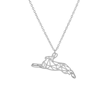 Load image into Gallery viewer, Origami Rabbit Necklace