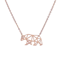 Load image into Gallery viewer, Origami Bear Necklace