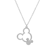 Load image into Gallery viewer, Double Mickey Necklace