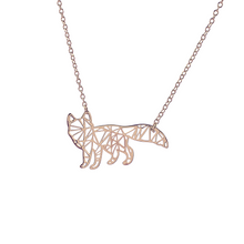 Load image into Gallery viewer, Origami Fox Necklace