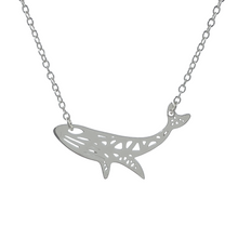 Load image into Gallery viewer, Origami Whale Necklace