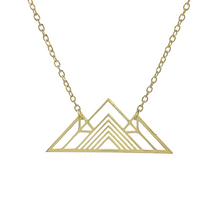 Load image into Gallery viewer, Origami Pyramid Necklace