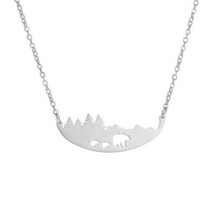 Load image into Gallery viewer, Mama Bear Baby Bears Necklace