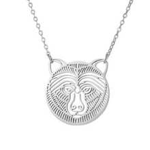 Load image into Gallery viewer, Bear Face Necklace
