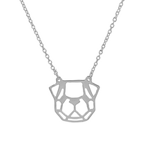 Load image into Gallery viewer, Origami Pug Necklace