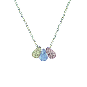 Tricolour Drop Necklace