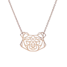 Load image into Gallery viewer, Geometric Bear Necklace