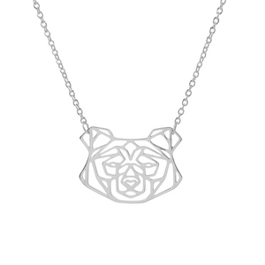 Geometric Bear Necklace