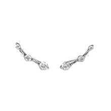 Load image into Gallery viewer, Three Stone Climber Earrings