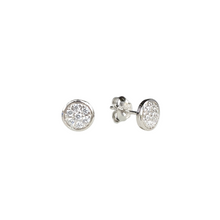 Load image into Gallery viewer, Cz Circle Stud Earrings