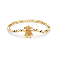 Load image into Gallery viewer, Gold Girl Bracelet - 4mm Gold Beads