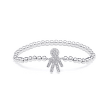 Load image into Gallery viewer, Silver Boy Bracelet - 4mm Silver Beads
