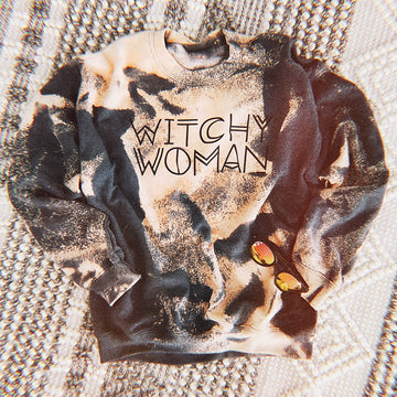 Witchy Woman Bleached Crew