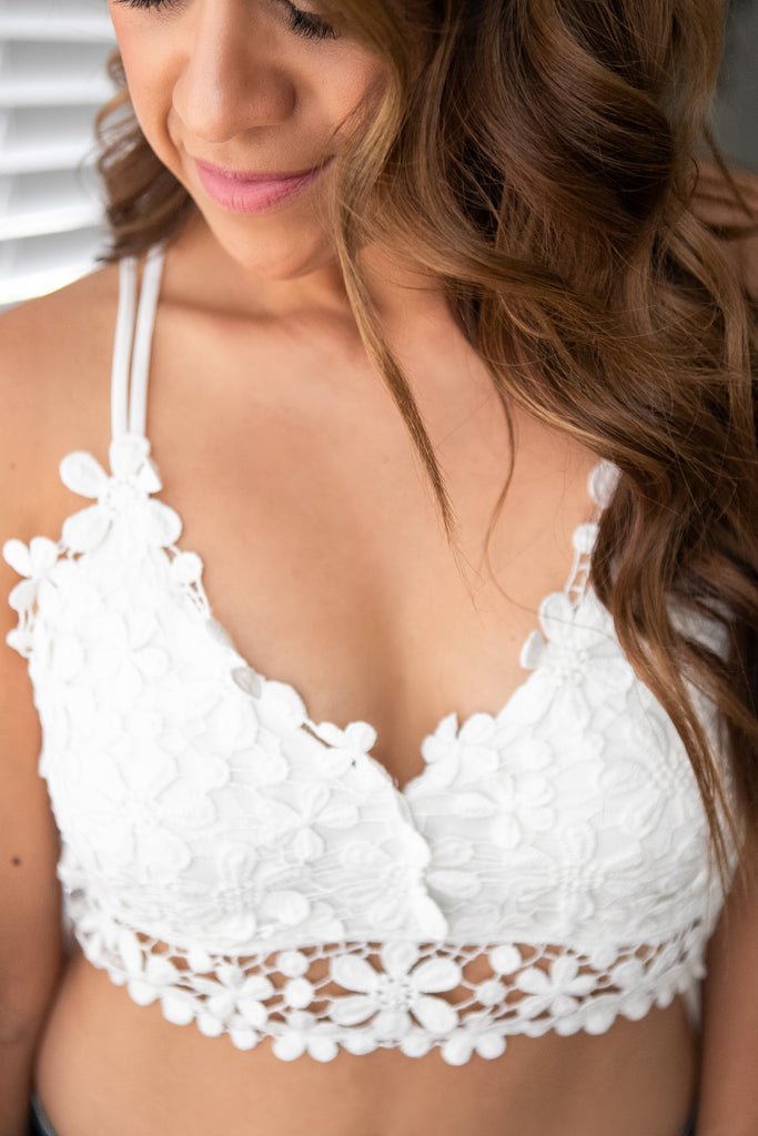 White Blossoms Bralette