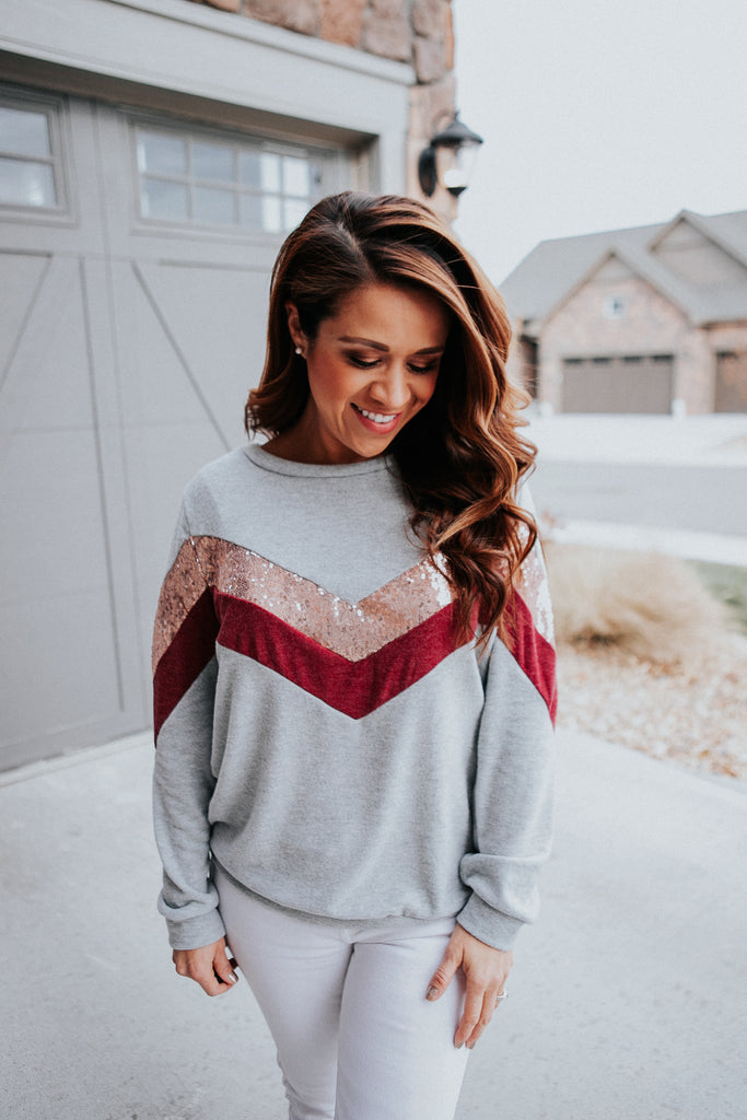 Cranberry Stripes Sweater