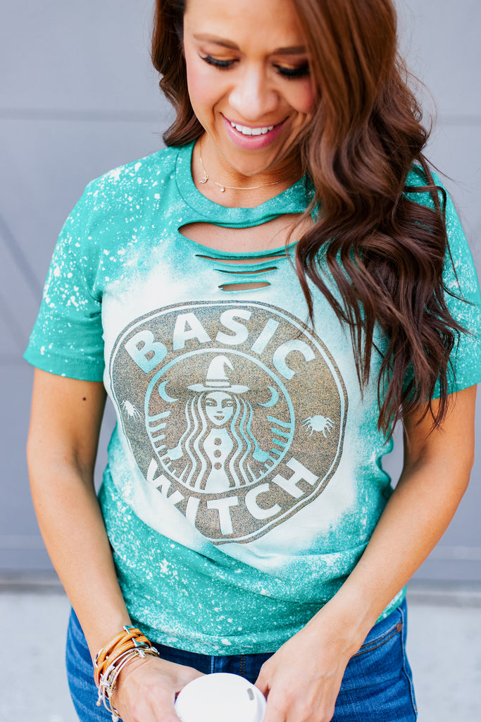 Basic Witch Distressed Tee