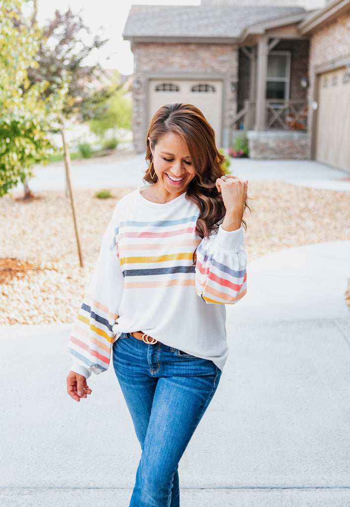 Vintage Stripes Bubble Top