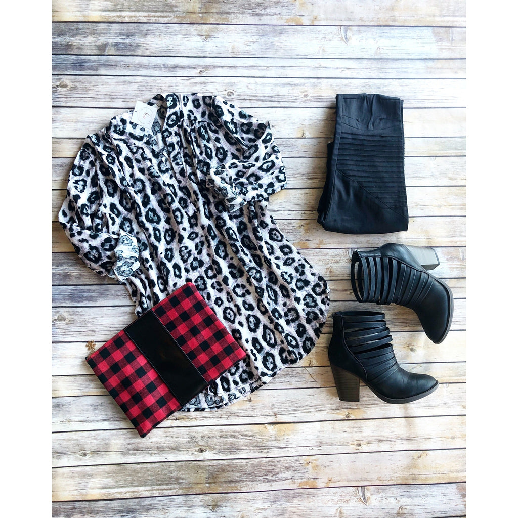 Snow Leopard Blouse