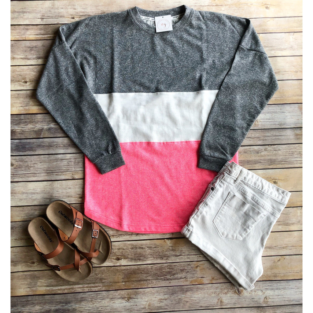 Color Block Crew Neck