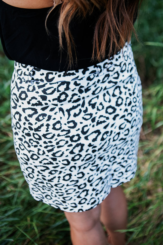 Snow Leopard Skirt