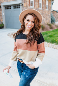 Perfect Color Block Sweater