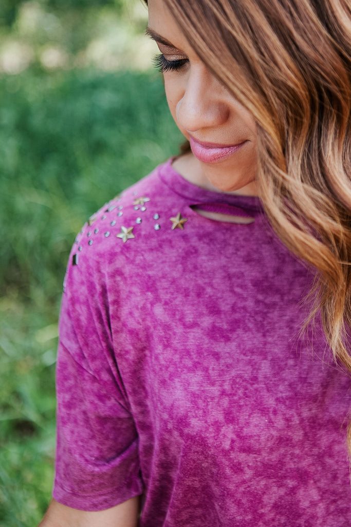 Bedazzled Berry Tee