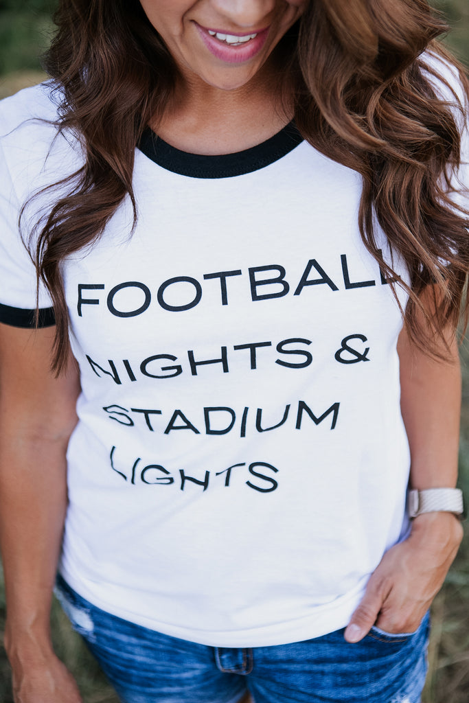 Football Nights & Stadium Lights Tee