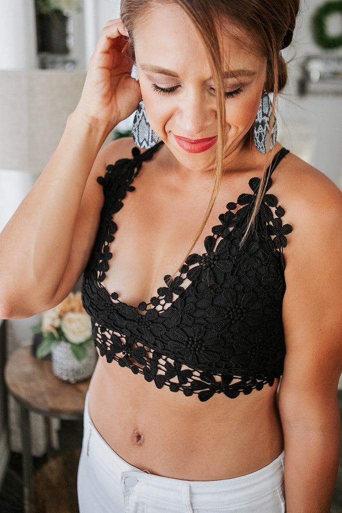 Black Blossoms Bralette