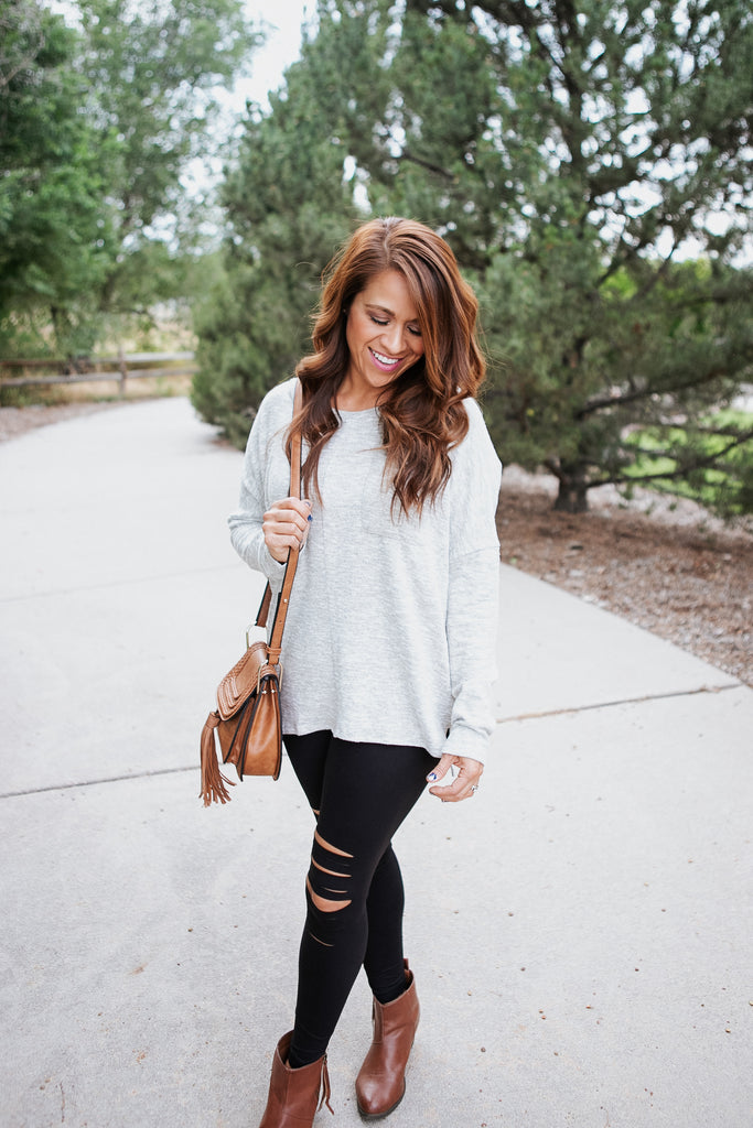 Oatmeal Relaxed Sweater