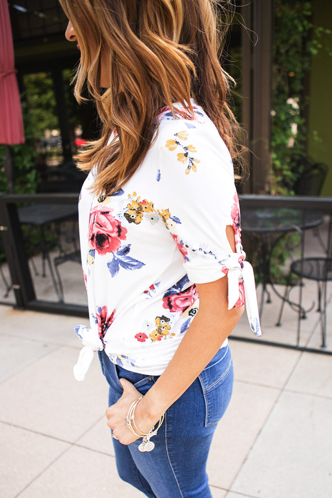 Knotted Floral Top