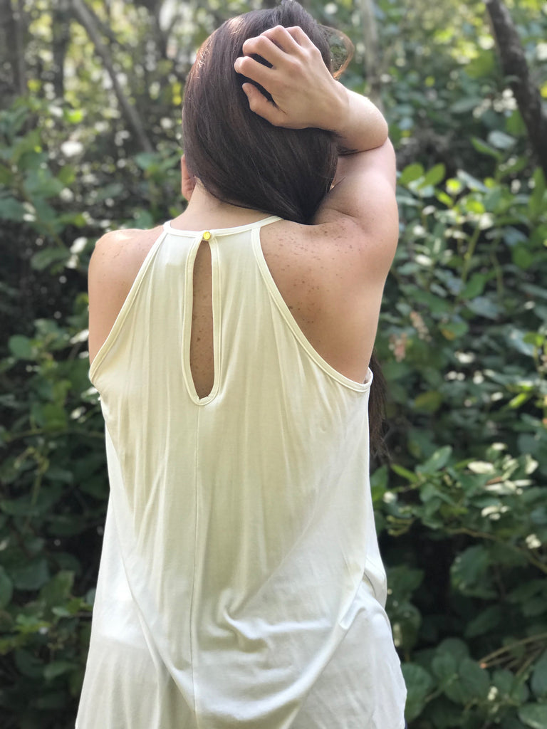 Cream & Crocheted Tank