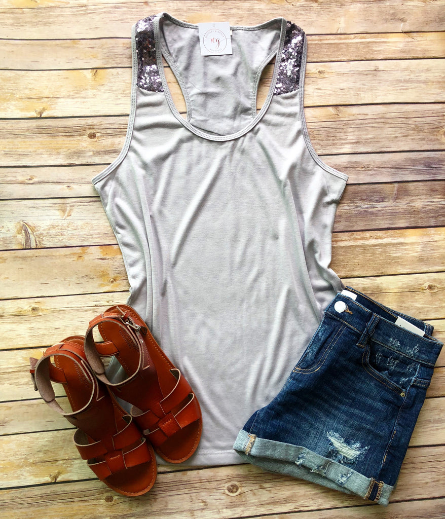 Chrome Sequin Tank