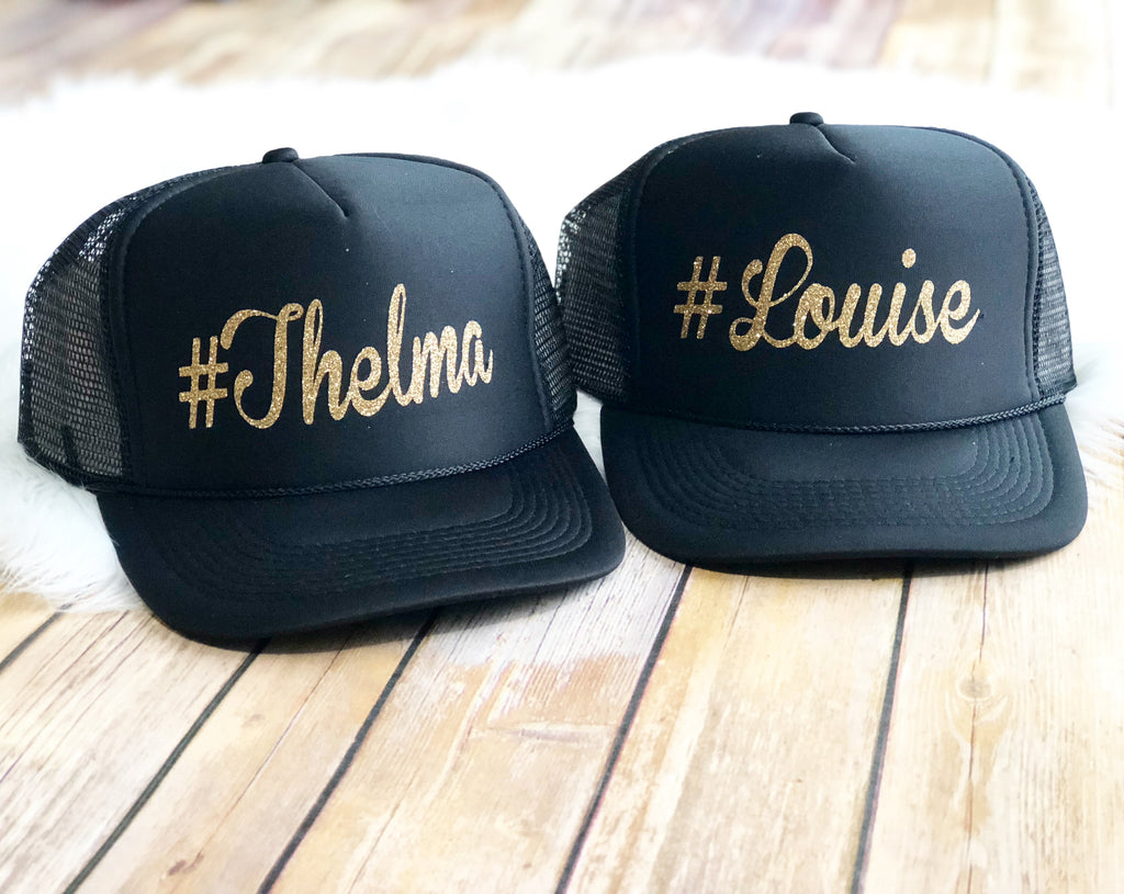 Thelma & Louise Trucker Hat Set