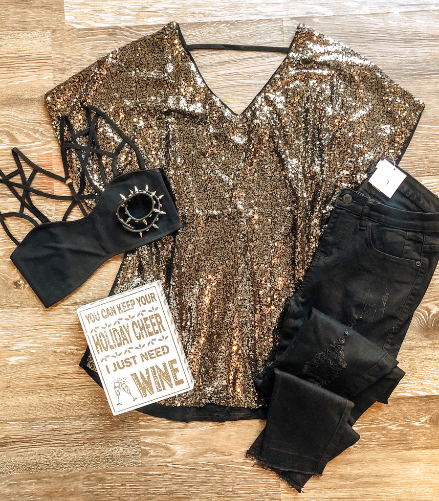All That Glitters Sequin Top