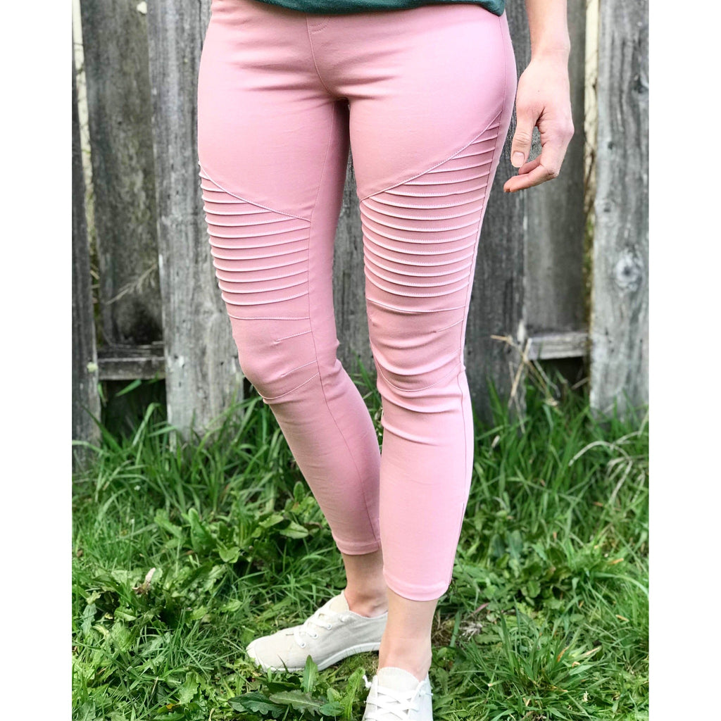 Blush Moto Jeggings