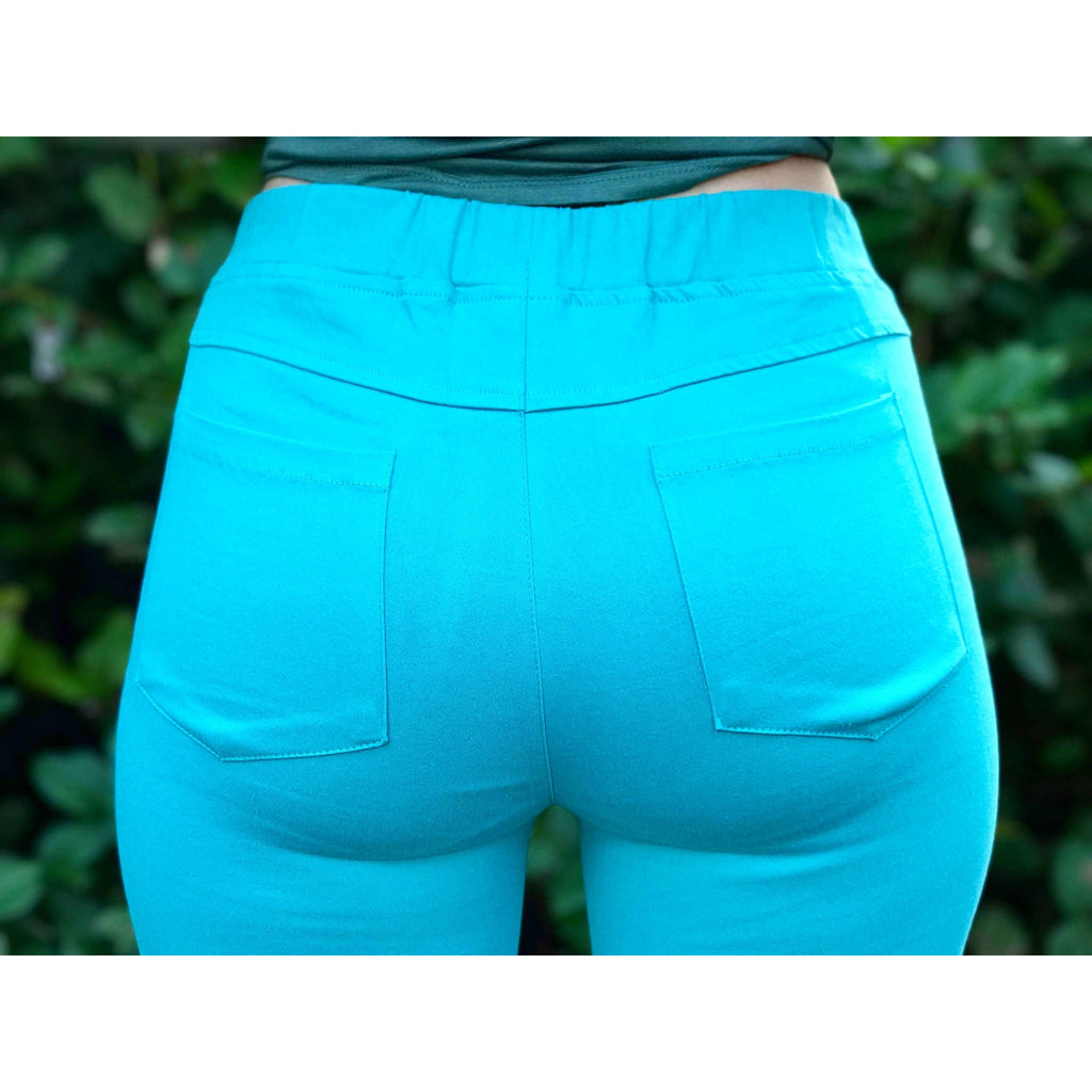 Teal Moto Jeggings
