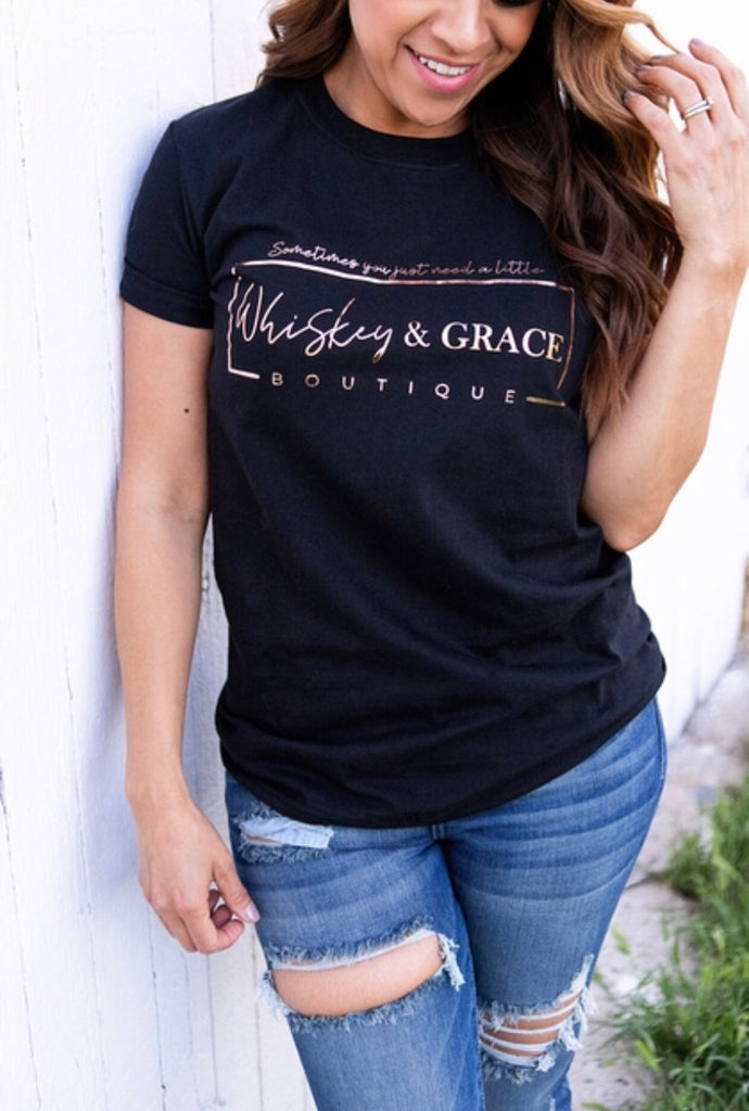 Whiskey & Grace Logo Tee