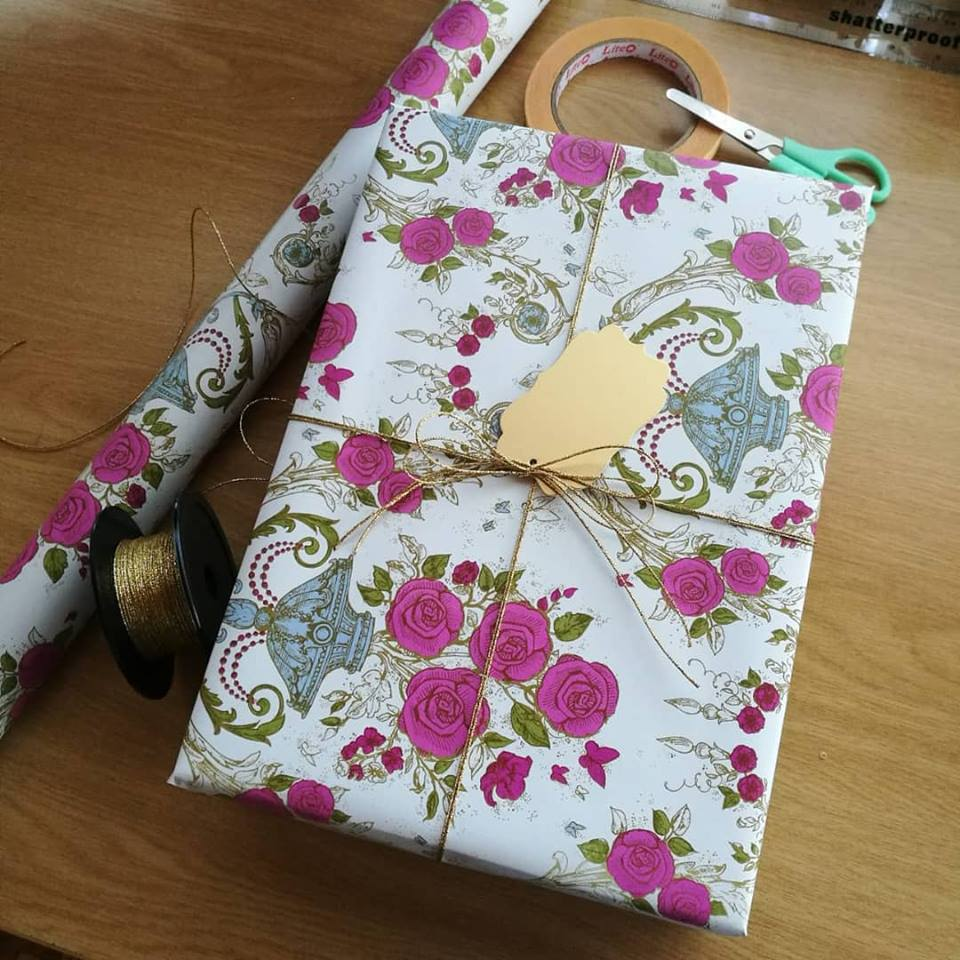 Fashion Gift Box wrapped in Floral Gift Wrap