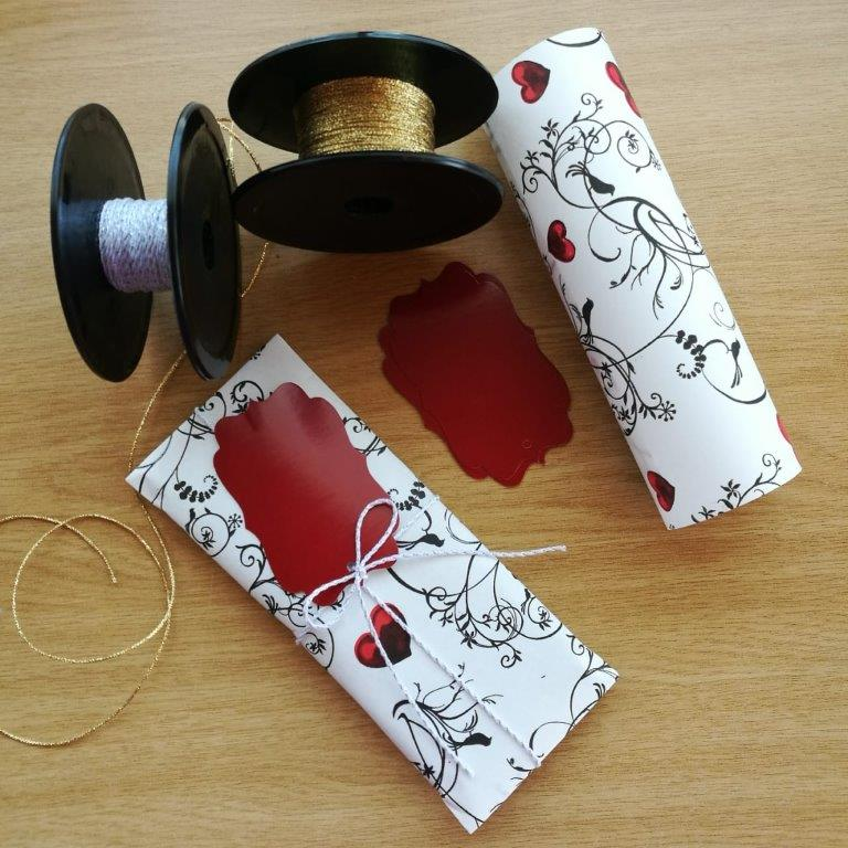 Jewellery wrapped in Vine Heart Gift Wrap