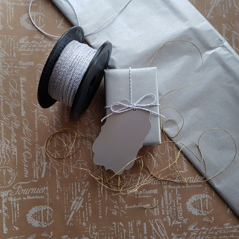 Gift Journal Entry #13 - Kraft Silver Gift Wrap