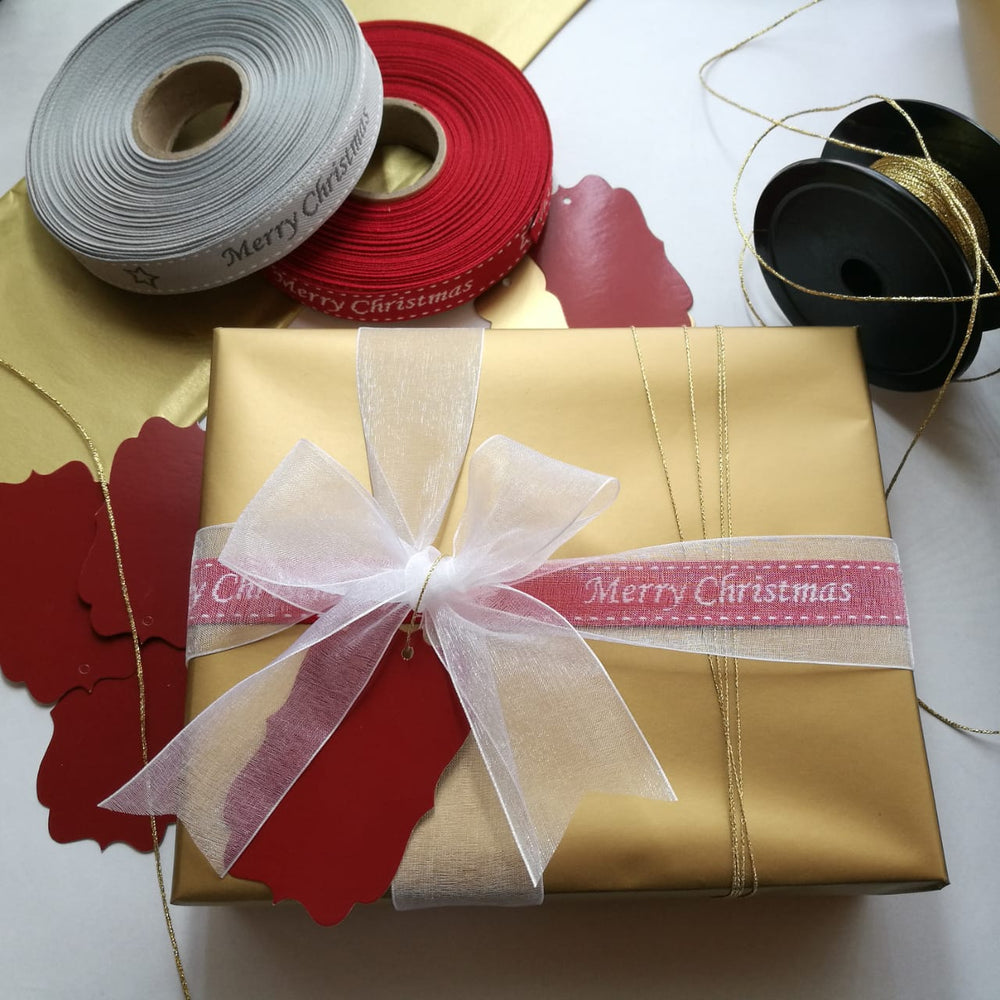 Gift Box wrapped in Luxury Festive Gift Wrap