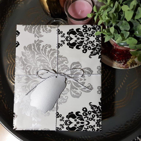 Gift Journal #15 - Style Gift Box wrapped in Black Damask Gift Wrap